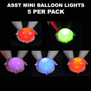 Asst Mini Balloon lights 5 pack