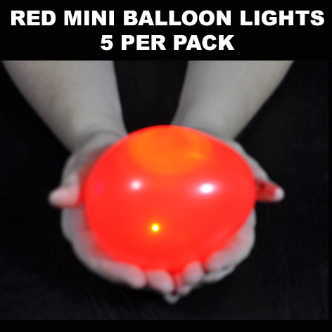 Red Mini Balloon lights 5 pack