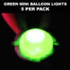 Green Mini Balloon lights 5 pack