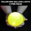 Yellow Mini Balloon lights 5 pack