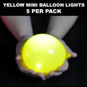 Yellow Mini Balloon lights 5 pack