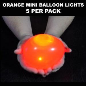 Orange Mini Balloon lights 5 pack