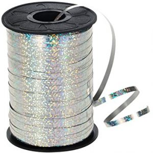 Silver holographic curling ribbon