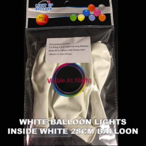White balloon lights in packet