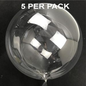 Clear 45cm bobo balloon