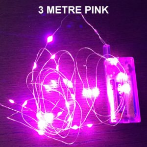 PINK 3 METRE COPPER WIRE LIGHTS