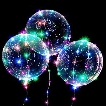multicoloured bobo lights