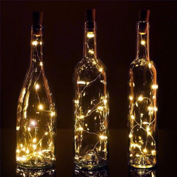 Warm white l.e.d wine cork