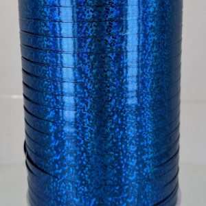 blue holographic curling ribbon